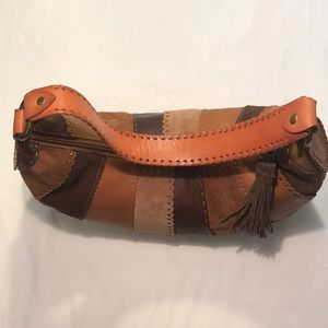 Fossil Vintage Leather Patchwork Hobo Bag
